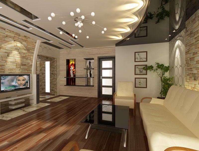 Дизайн потолка в комнате фото