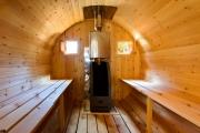 Парильня бани бочки из кедра